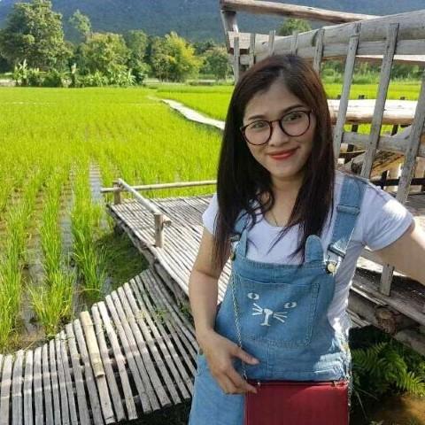 Thai Girl in Rice field